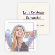 Linear High School Graduation Invitations  - Purple