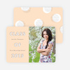 Modern Circles Graduation Announcements for High School - Orange