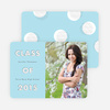 Modern Circles Graduation Announcements for High School - Blue
