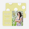 Modern Circles Graduation Announcements for High School - Green