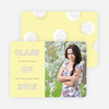 Modern Circles Graduation Announcements for High School - Yellow