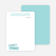 Modern Graduation Announcements - Green