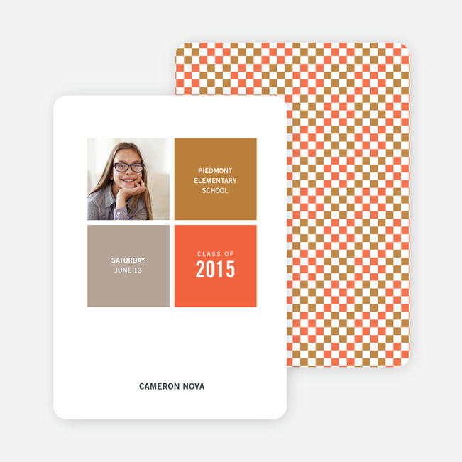 Modern Graduation Announcements - Cinnamon