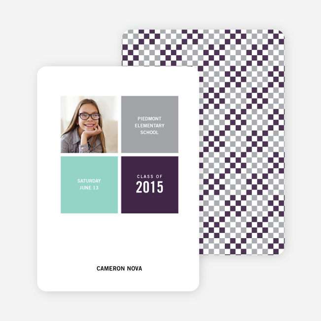 Modern Graduation Announcements - Grape