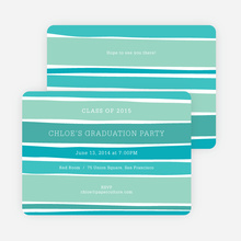 Modern Waves Graduation Party Invitations - Multi