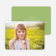 Chic Graduation Photo Announcements - Green