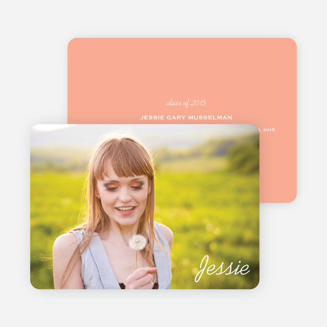 Chic Graduation Photo Announcements - Orange