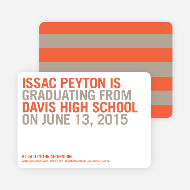 Simple Graduation Invitations - Yam