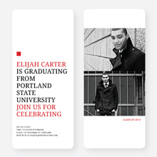 Simply Classic Graduation Invitations - Red