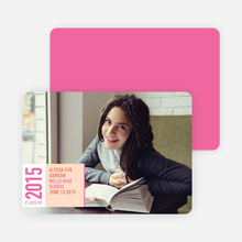 Simply Modern Graduation Announcements - Shocking Pink