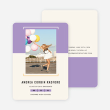 Two-Toned Graduation Invitations - Purple