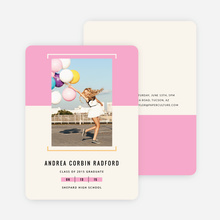 Two-Toned Graduation Invitations - Pink