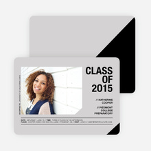 Unique Photo Graduation Announcements - Gray