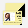 Unique Photo Graduation Announcements - Yellow