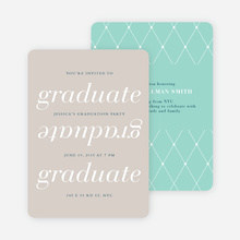 Celebrate and Party Graduation Invitations - Pink