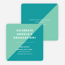 Classic but Fun Graduation Announcements - Green