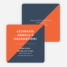 Classic but Fun Graduation Announcements - Orange