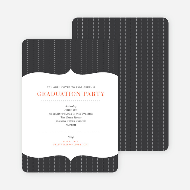 Curtain Time Graduation Invitations - Green
