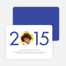 Graduation Announcement Year Cutout - Blue