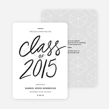 Proudly Announcing Graduation Cards - White