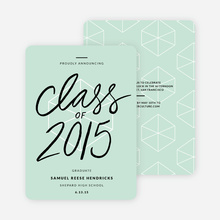 Proudly Announcing Graduation Cards - Green