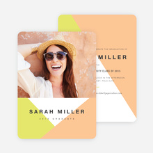 Bold & Geometric Photo Graduation Cards - Orange