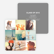 Cherish the Moments Graduation Announcements - Gray