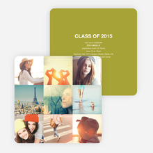 Cherish the Moments Graduation Announcements - Green