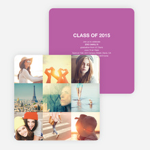 Cherish the Moments Graduation Announcements - Purple
