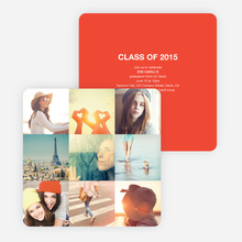 Cherish the Moments Graduation Announcements - Red