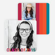 Class Stripes Graduation Announcements - Green