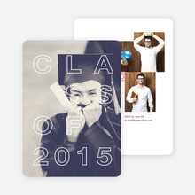 Classy Graduation Announcements - Red