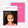 Floating Cap Graduation Announcements for Elementary School - Pink