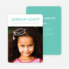 Floating Cap Graduation Announcements for Elementary School - Blue