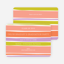 Modern Waves Graduation Party Invitations - Orange