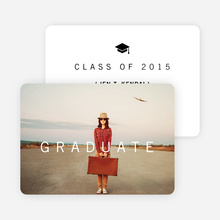 Tip of the Cap Graduation Announcements - Black
