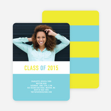 Unique Modern Graduation Announcements and Invitations - Blue