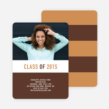 Unique Modern Graduation Announcements and Invitations - Brown