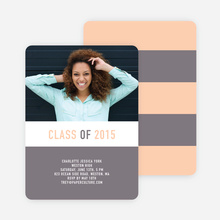 Unique Modern Graduation Announcements and Invitations - Gray