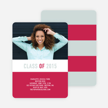 Unique Modern Graduation Announcements and Invitations - Red