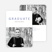 Simple Congrats Elementary Graduation Announcement - Red