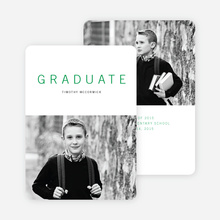 Simple Congrats Elementary Graduation Announcement - Green