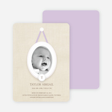 Antique Monogram Birth Announcements - Lilac