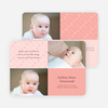 Baby pin Photo Birth Announcements - Blush