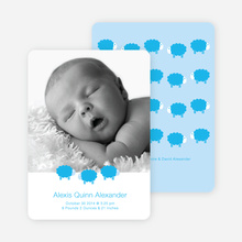 Bah Bah Blue Sheep Baby Announcements - Cornflower