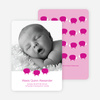 Bah Bah Pink Sheep Baby Announcements - Magenta