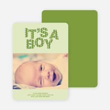 Bold Letters for Bold News Baby Announcements - Lime