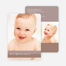 Colored Stripes Modern Birth Announcements - Mocha Jr.