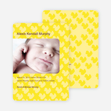 Duck Wallpaper Photo Birth Announcements - Yellow
