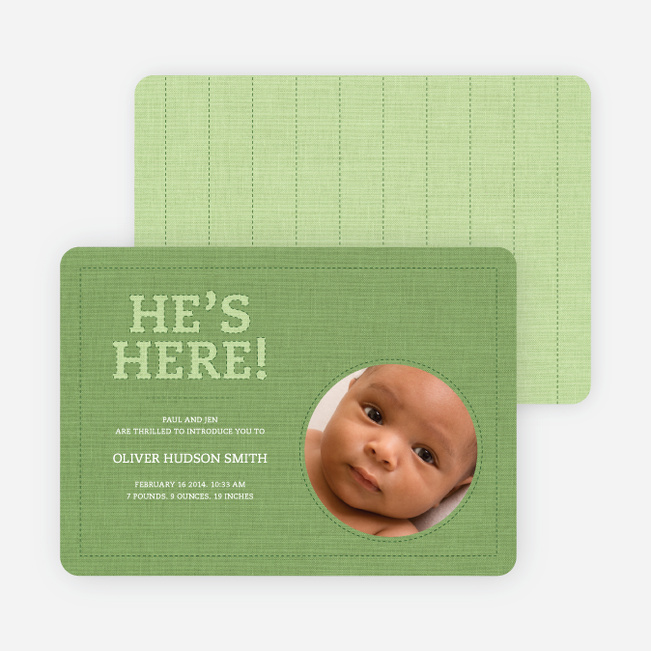 Fabric of Life Birth Announcements - Asparagus